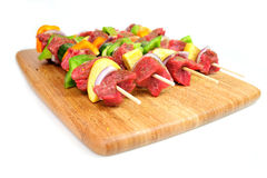 Steak And Vegetable Kabob's Royalty Free Stock Image