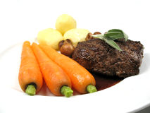 Steak with vegetables. A nice steak with fresh vegetables royalty free stock image