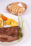 Steak  with vegetables Stock Photo