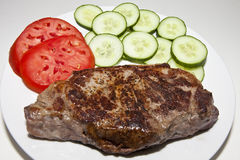 Steak and Vegetables on Plate Stock Images