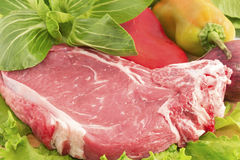 Steak and vegetables Stock Photo