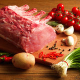 Steak with vegetables Stock Photos