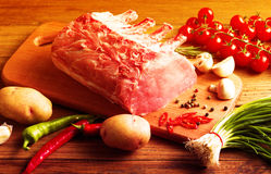 Steak with vegetables Royalty Free Stock Images