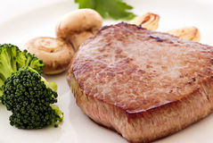 Steak with Vegitable Royalty Free Stock Photos