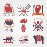 Steak vintage label design Stock Photo