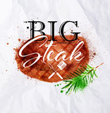 Steak watercolor Royalty Free Stock Images