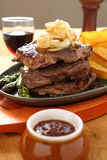 Steak And Wedges Royalty Free Stock Photos
