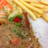 Steak. In weekend Royalty Free Stock Image