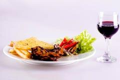 Steak white background Stock Images