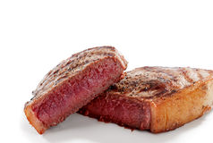 Steak on white Stock Images