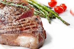 Steak on white Royalty Free Stock Image