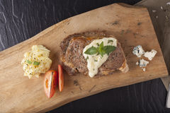 Steak and white sauce Stock Photography