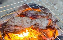 Steakes на гриле Стоковые Изображения RF