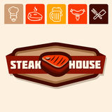 Steakhouse Royalty-vrije Stock Foto's