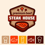 Steakhouse logo Obrazy Stock