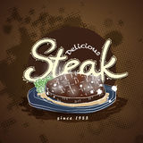 Steakhouse menu Obrazy Stock