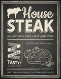 Steakhouseaffiche Royalty-vrije Stock Afbeeldingen