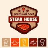Steakhouseembleem Stock Afbeeldingen