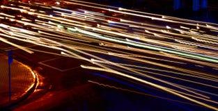 Steaking światła z Roadsign zdjęcie stock