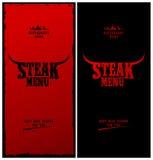 Steakmenü. Lizenzfreie Stockfotografie