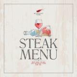 Steakmenü. Lizenzfreie Stockbilder