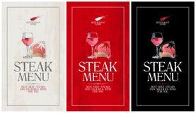 Steakmenü. Lizenzfreies Stockfoto