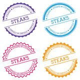 Steaks badge isolated on white background. Royalty Free Stock Photography