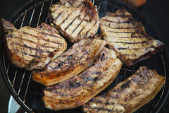 Steaks on barbecue Stock Image
