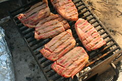 Steaks Barbecued Stock Photos