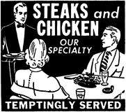 Steaks And Chicken Stock Photos