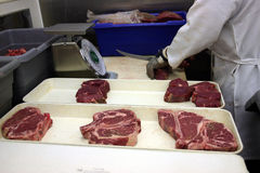 steaks för b-bab q Royaltyfria Foton