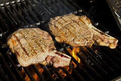 Steaks on the grill Royalty Free Stock Image