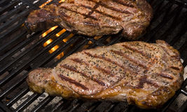 Steaks on the Grill royalty free stock photos
