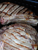 Steaks on grill Royalty Free Stock Image