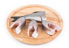 Steaks and tail of seabass Stock Image
