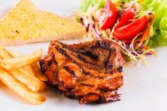 Steakweißhintergrund Stockbild