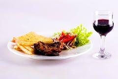 Steakweißhintergrund Stockfotos