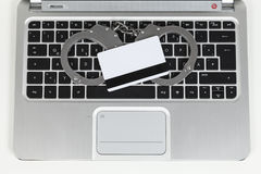 Steal bank card data Royalty Free Stock Images