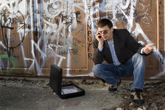Steal  - calling man Stock Images
