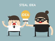 Steal idea, flat design, business concept Royalty Free Stock Photos
