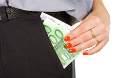 Steal of money Stock Image
