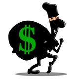 Steal money siluet Royalty Free Stock Image
