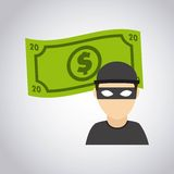 stealer dollars isolated icon design Stock Image