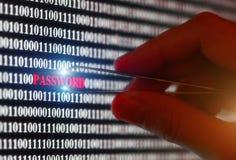 Stealin password Royalty Free Stock Photos