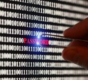 Stealin password Royalty Free Stock Photography