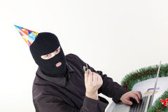 stealing ατόμων lap-top στοιχείων Στοκ Εικόνα