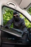 stealing κλέφτης lap-top Στοκ εικόνα με δικαίωμα ελεύθερης χρήσης