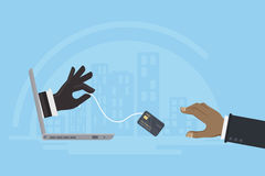 Stealing πιστωτικών καρτών Στοκ φωτογραφία με δικαίωμα ελεύθερης χρήσης
