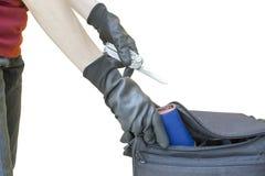 Stealing πορτοφόλι κλεφτών στοκ φωτογραφίες