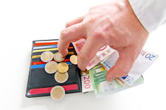 Stealing χρήματα Στοκ φωτογραφία με δικαίωμα ελεύθερης χρήσης